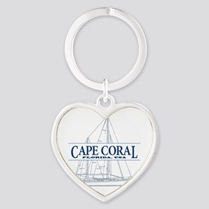 Cape Coral - Heart Keychain