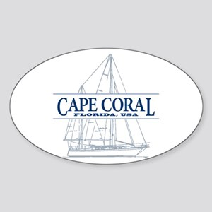 Cape Coral - Sticker (Oval)