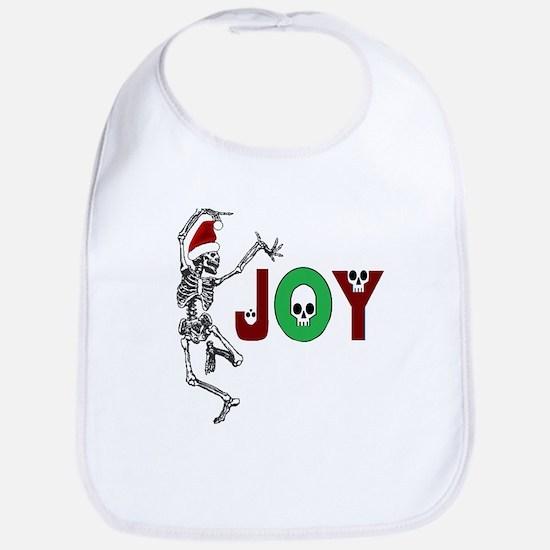 Skeleton Santa - Joy Bib