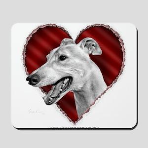 Greyhound Valentine Mousepad