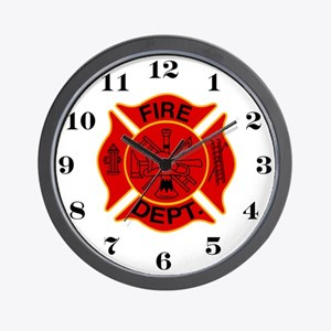 Maltise Cross Fire House Wall Clock