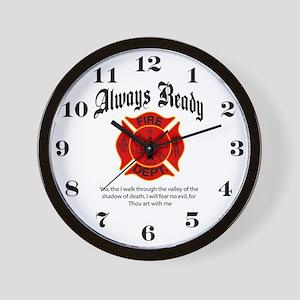 Always Ready FireFighter Wall Clock