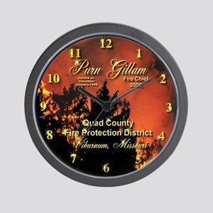 Personalized Fire Chief Award Wall Clock
