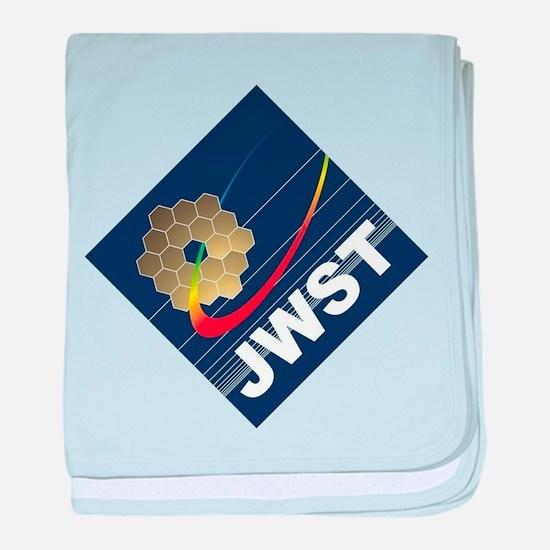 James Webb ESA Logo Light baby blanket