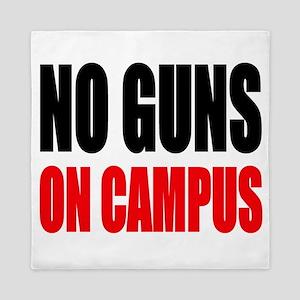 No Guns On Campus Queen Duvet