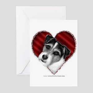 Jack Russell Terrier Valentin Greeting Cards (Pack