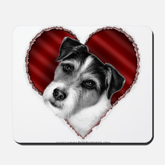 Jack Russell Terrier Valentin Mousepad