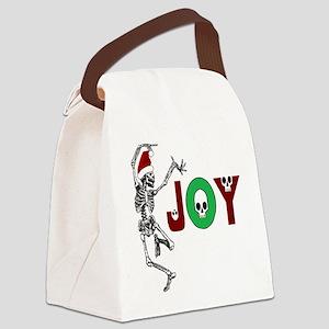 Skeleton Santa - Joy Canvas Lunch Bag