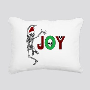 Skeleton Santa - Joy Rectangular Canvas Pillow