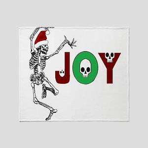 Skeleton Santa - Joy Throw Blanket