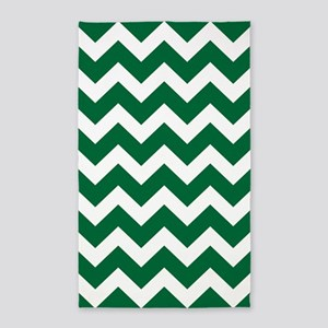Green And White Chevron Area Rug