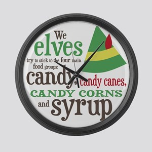 Elf Candy Syrup Large Wall Clock