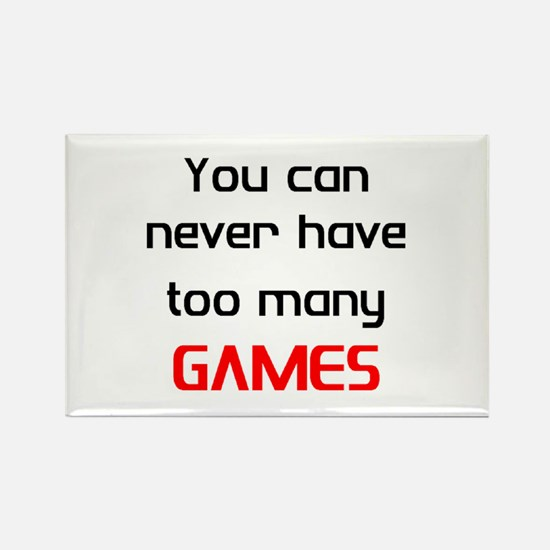 many games Rectangle Magnet