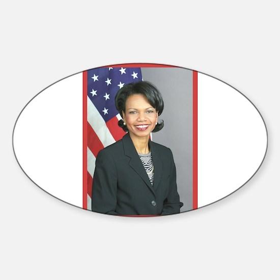 Condoleezza Rice Oval Decal