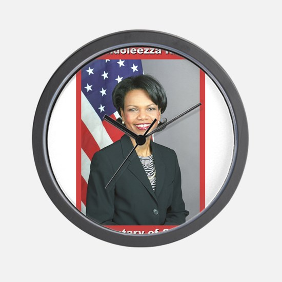Condoleezza Rice Wall Clock
