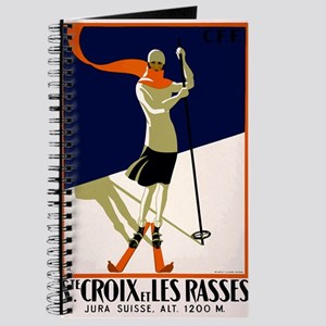 1922 Switzerland Ski Sainte-Croix Travel Poster Jo