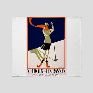 1922 Switzerland Ski Sainte-Croix Travel Poster Th