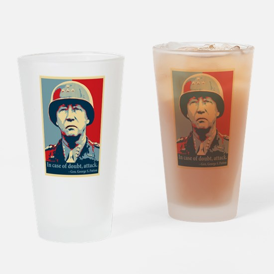 Patton Attack Drinking Glass
