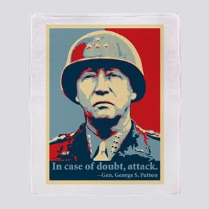 Patton Attack Throw Blanket