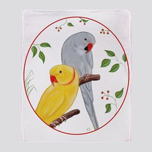 Indian Ringnecks Throw Blanket