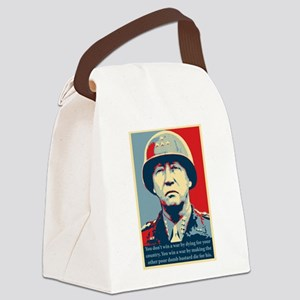 George S. Patton Canvas Lunch Bag