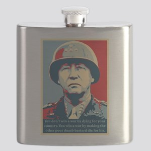 George S. Patton Flask