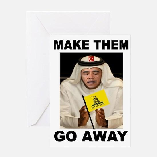OBAMA MUSLIM Greeting Cards