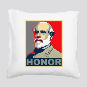 General Lee Square Canvas Pillow