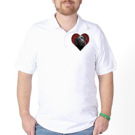 Labrador Retriever Valentine Golf Shirt