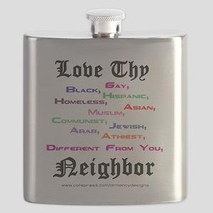 Love Thy Neighbor Flask