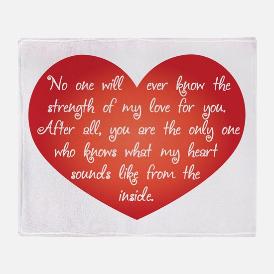 The Strength of My Love Throw Blanket