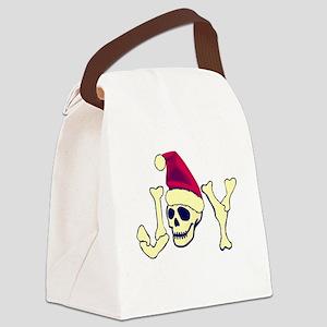 Joy - Santa Skull Canvas Lunch Bag
