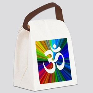 Om 3 Canvas Lunch Bag