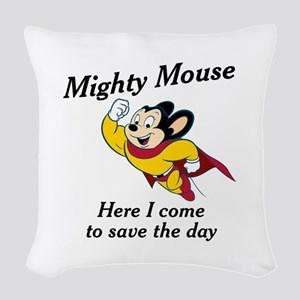 Mighty Mouse Woven Throw Pillow