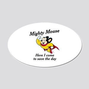 Mighty Mouse 20x12 Oval Wall Decal