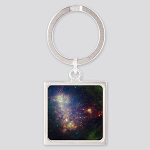 Galaxy Square Keychain