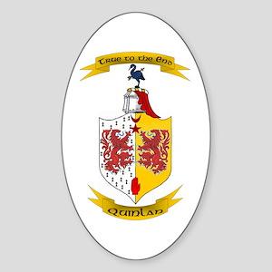 Quinlan Oval Sticker