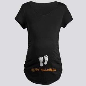 Halloween Feet Maternity T-Shirt