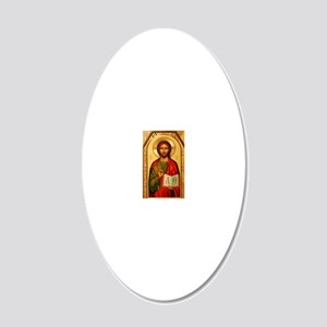 Christ the Teacher 20x12 Oval Wall Decal