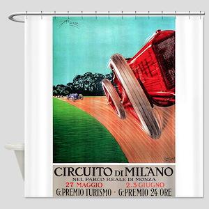 Antique 1924 Circuito de Milano Auto Race Poster S