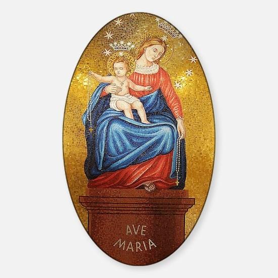 Lady of Pompeii Sticker (Oval)