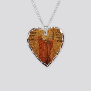Saint Anne Necklace Heart Charm