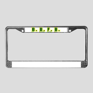 Big Bubba Farm Boy License Plate Frame