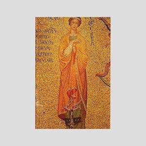 Saint Cecilia Rectangle Magnet