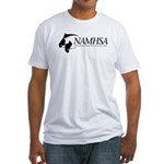 White Fitted T-Shirt w/Black Logo