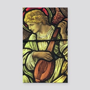 Angel with a Mandolin Rectangle Car Magnet