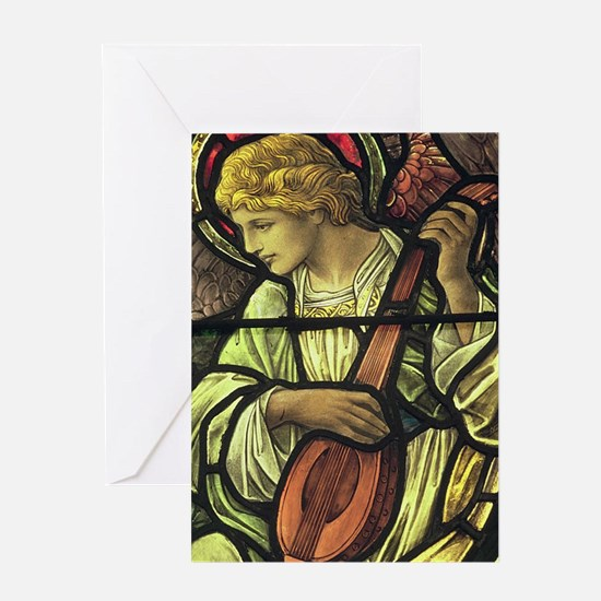Angel with a Mandolin Greeting Card