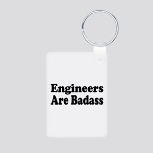engineer3 Aluminum Photo Keychain