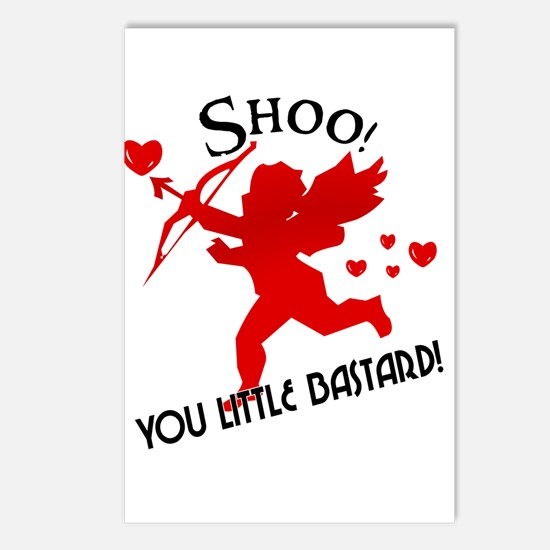 Shoo fly Cupid Anti-Valentine Postcards (Package o