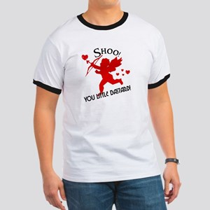 Shoo fly Cupid Anti-Valentine Ringer T